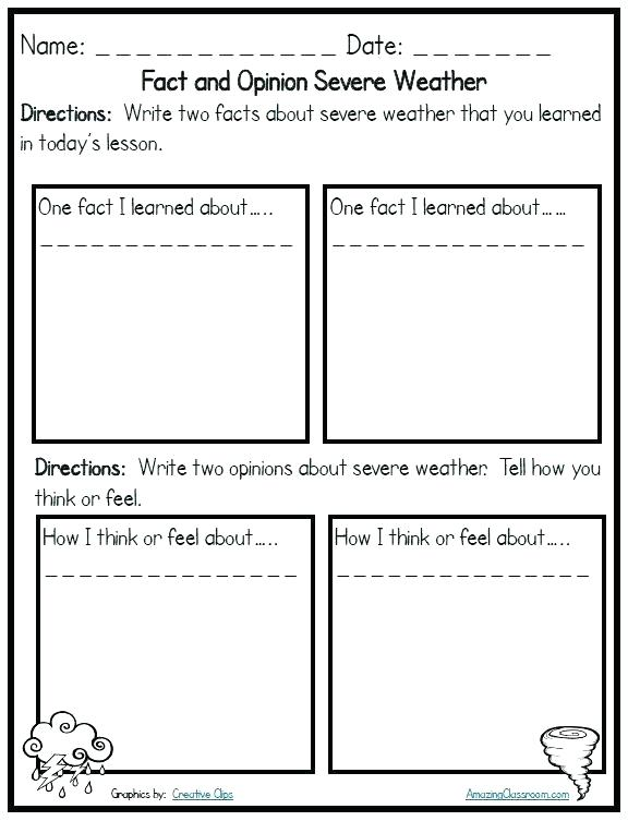Weather Worksheets For Second Grade