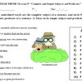 Subject And Predicate Worksheets 4th Grade