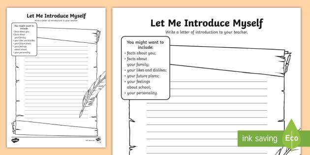 Let Me Introduce Myself Worksheet   Worksheet