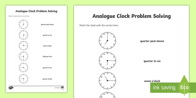 Matching The Correct Time Worksheet   Worksheet