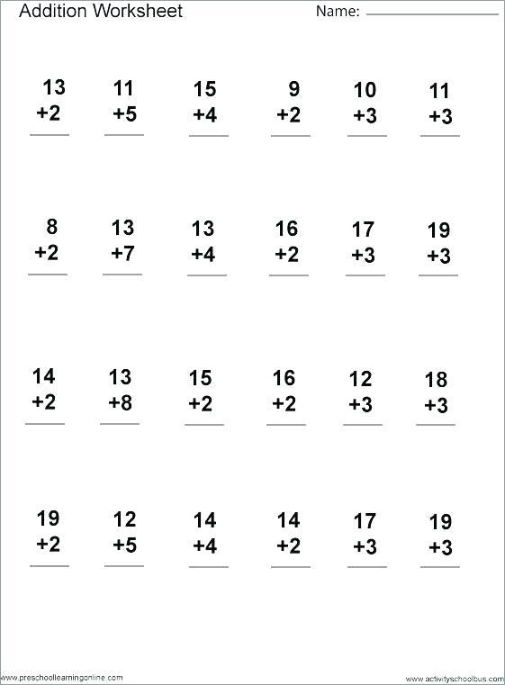 Beginning 5th Grade Math Worksheets