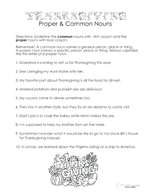 Thanksgiving Worksheets High School
