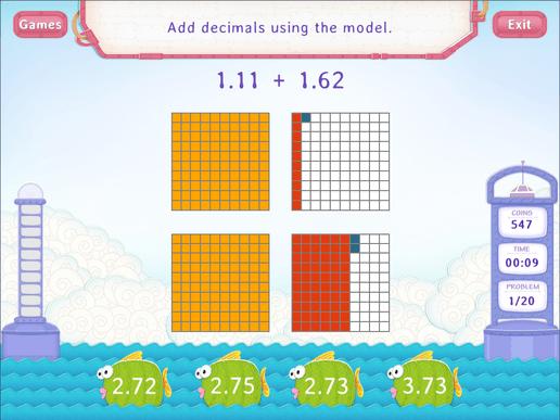 Add Decimals Using Models