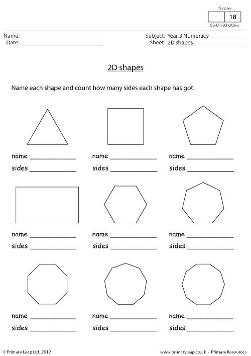 3 Dimensional Figures Worksheets