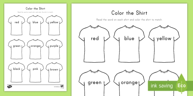 Color The T