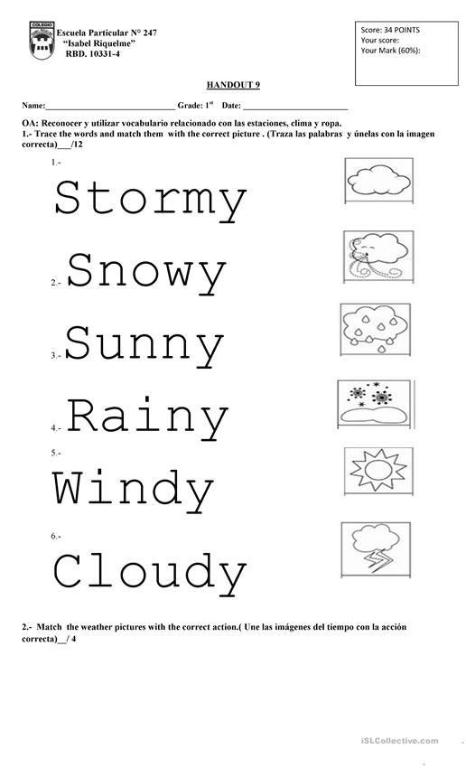 Weather 1st Grade