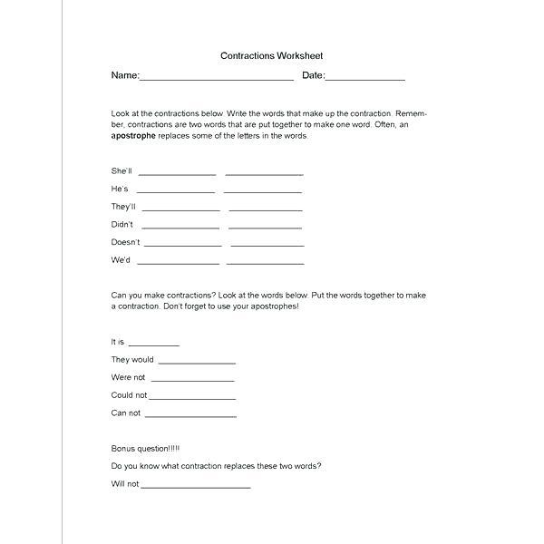 Basic Spanish Conversation Worksheets