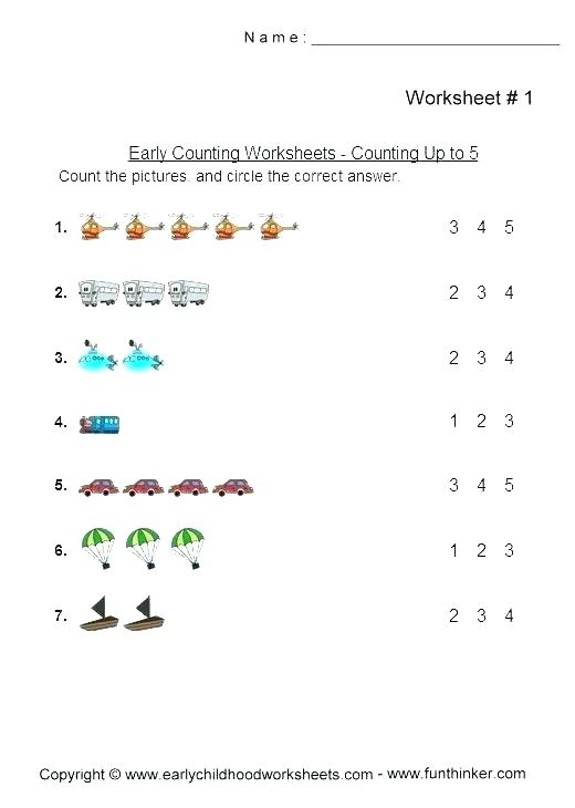 Count Write Number Worksheets
