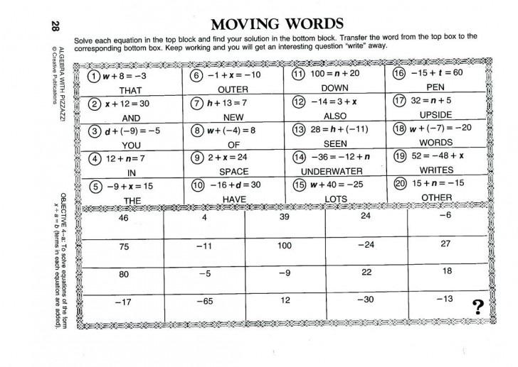 005 Find Match Math Unique A Worksheet Pre Algebra Answers Answer