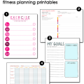 Exercise Goals Worksheets