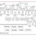 Esl Worksheets Days Of The Week