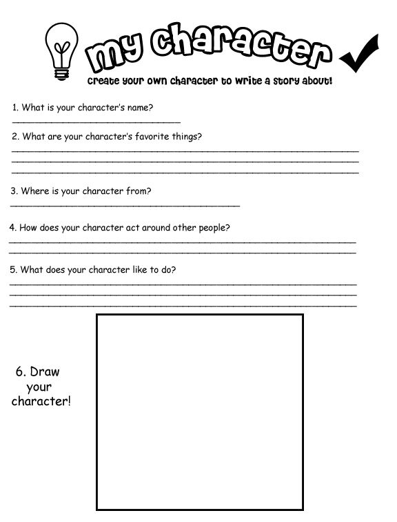 Character Development Worksheets
