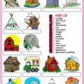 Different Types Of Houses Worksheets