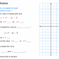 Quadratic Graphing Worksheets