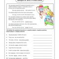 Parts Of A Sentence Worksheets 4th Grade