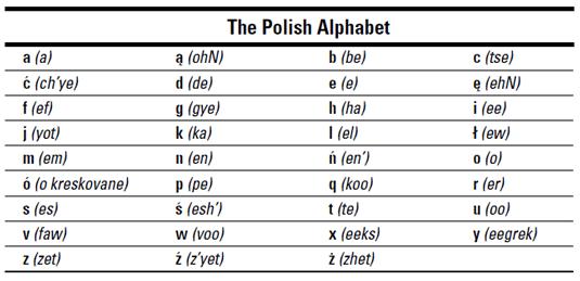 Polish For Dummies Cheat Sheet (uk Edition)