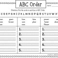 Alphabetical Order Worksheets Grade 1