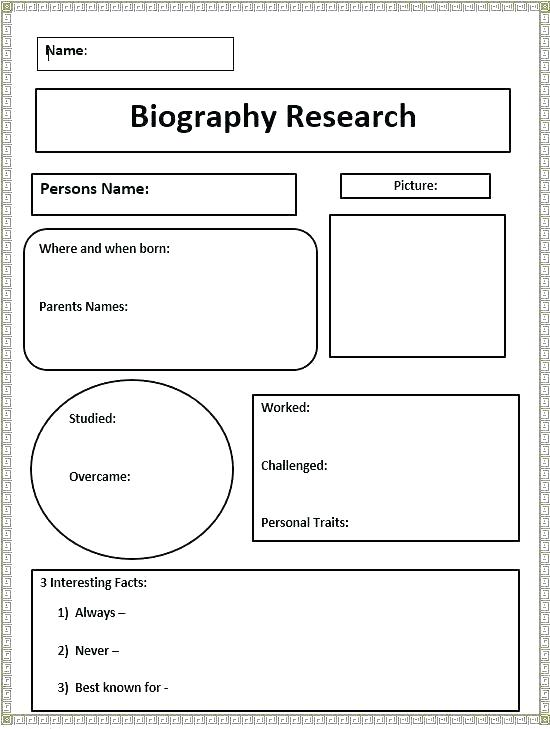 3rd Grade Autobiography Worksheets Biography With Comprehension