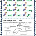 Synonyms Worksheets First Grade