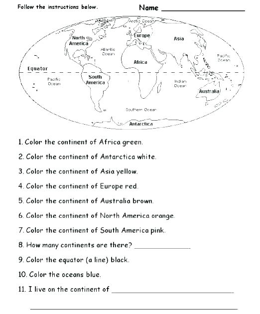 37 Specified Simple Map Skills Worksheets