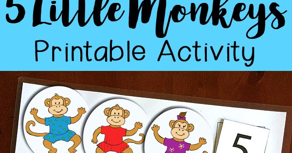 Five Little Monkeys Jumping On The Bed Printable Activity