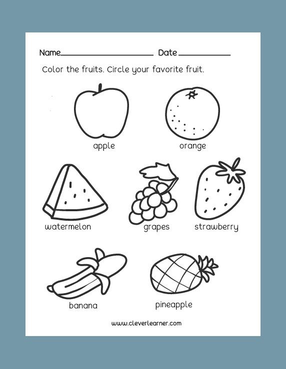 Free Preschool Science Worksheets  Healthy And Unhealthy Foods
