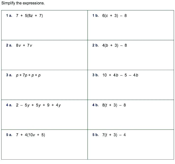 Algebraic Expressions 6th Grade Worksheets – Nwpropinspect Com