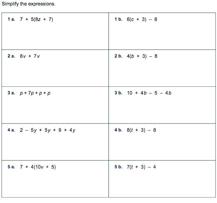 Algebraic Expressions 6th Grade Worksheets – Nwpropinspect Com