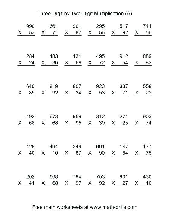 Area Model Multiplication Worksheets Pdf – Hailprobe Info
