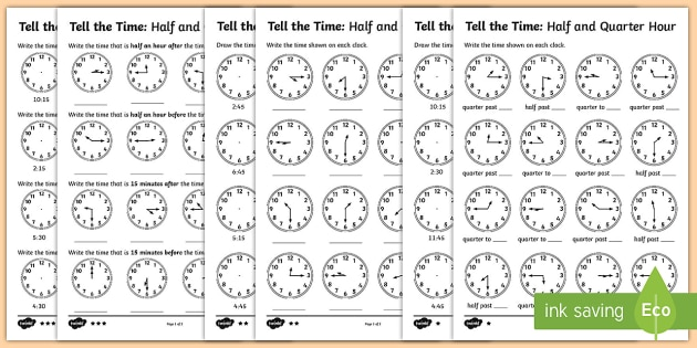 Year 2 Telling The Time Differentiated Worksheet   Worksheets