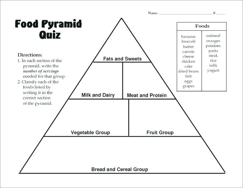 Blank Food Pyramid Worksheets – Odmartlifestyle Com
