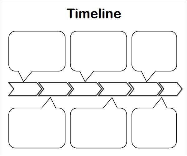 Free 4+ Blank Timeline Templates In Pdf