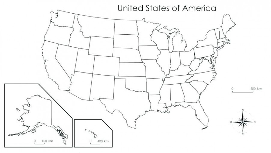 Blank Us Map Worksheet