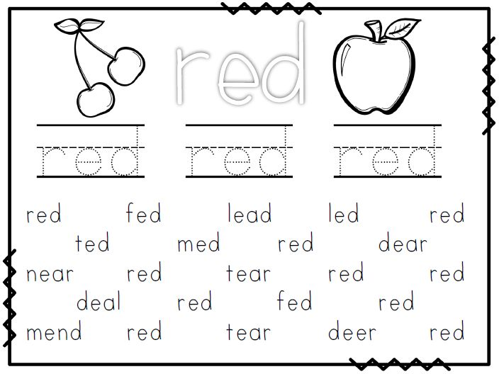 Color Words For Kindergarten Students,words Free Download