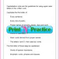 Capitalization Worksheets Pdf