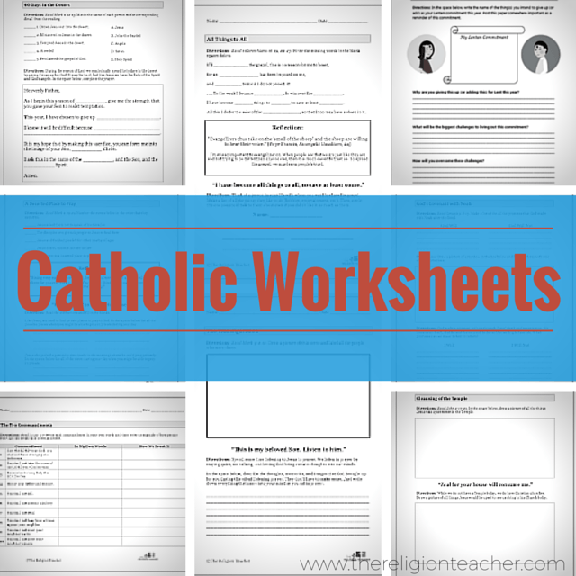 Catholic Worksheets