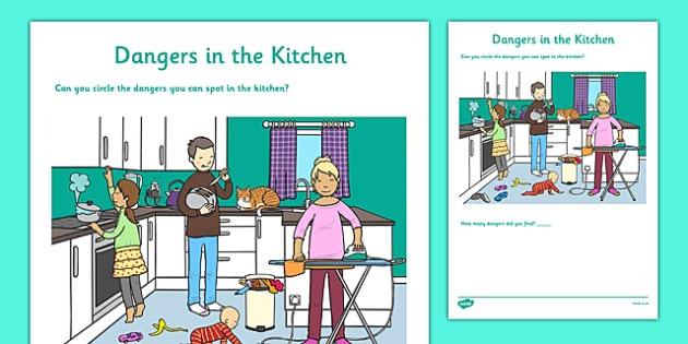 Dangers In The Kitchen Worksheet   Worksheet