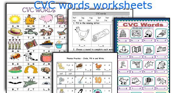 Cvc Words Worksheets
