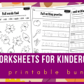 Worksheets In Kindergarten