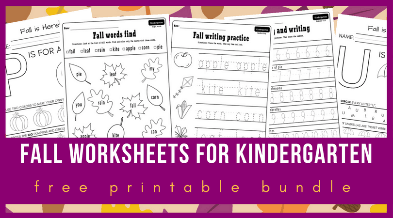10 + Fall Worksheets Kindergarten Teachers And Students Absolutely