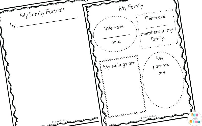 Family Theme Preschool And Family Worksheets For Kindergarten Fun