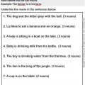 Find The Nouns Worksheets