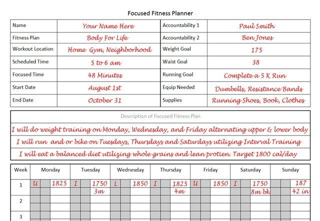Fitness Planner  The Planner I Used To Lose 26 Pounds In 12 Weeks
