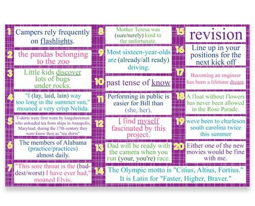 7th 8th Grade Language Daily Review Bulletin Board Kit