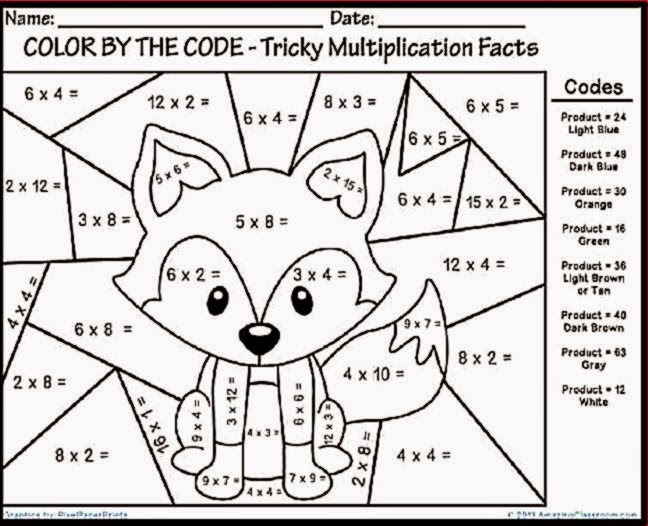 Math Coloring Pages Grade