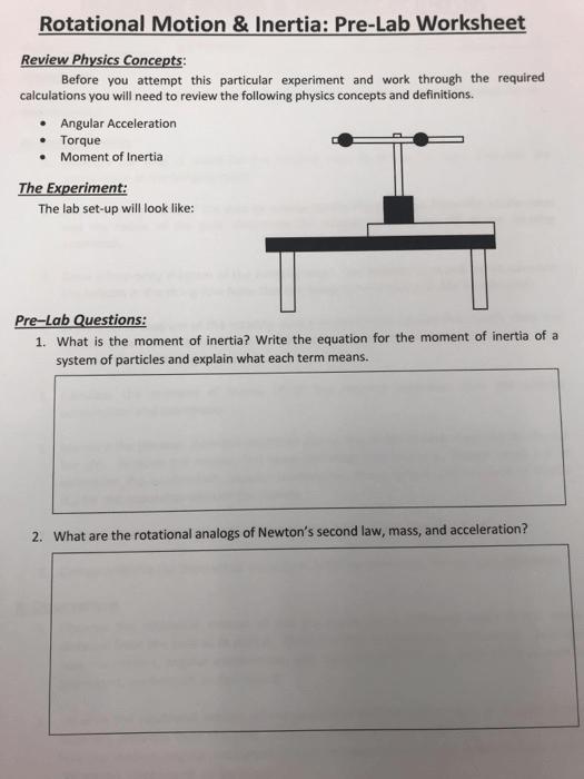 Solved  Rotational Motion &inertia  Pre