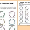 Quarter Past Worksheets