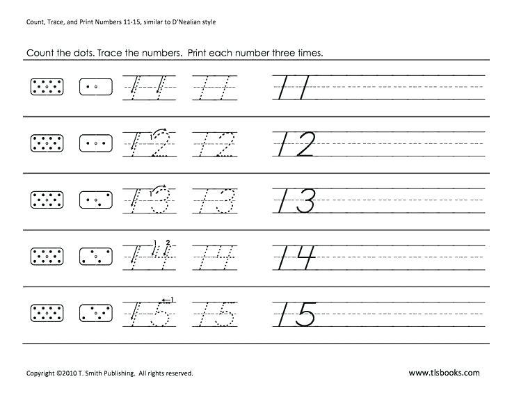 Numbers 11 To 20 Worksheets Tracing Numbers 11 20 Worksheets Pdf