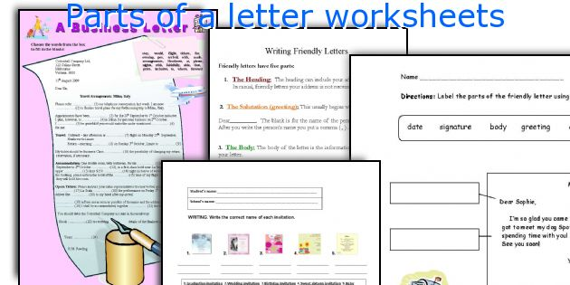 Parts Of A Letter Worksheets