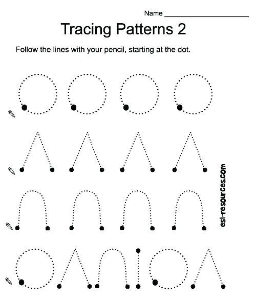 Pattern Writing Worksheets Pattern Writing Worksheets Printing
